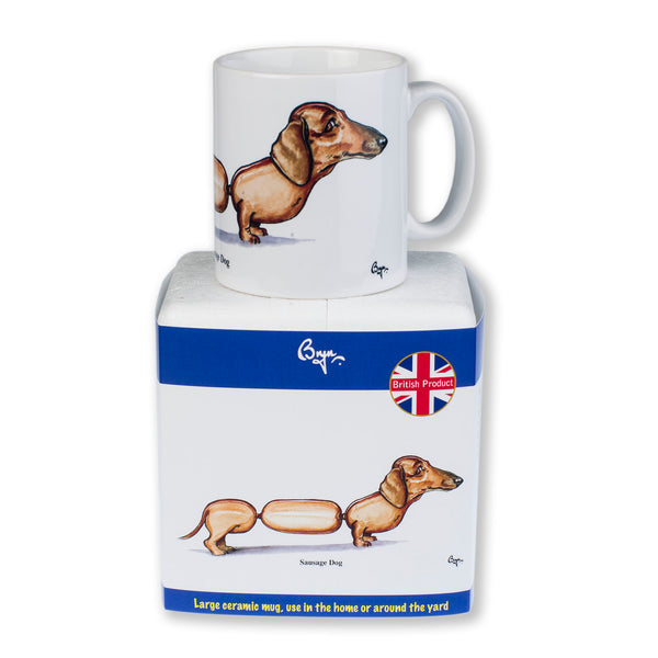 Sausage Dog Mug by Bryn Parry
