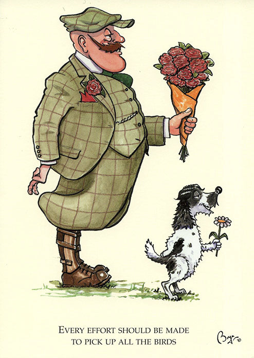 Cocker Spaniel dog cartoon greeting card by Bryn Parry