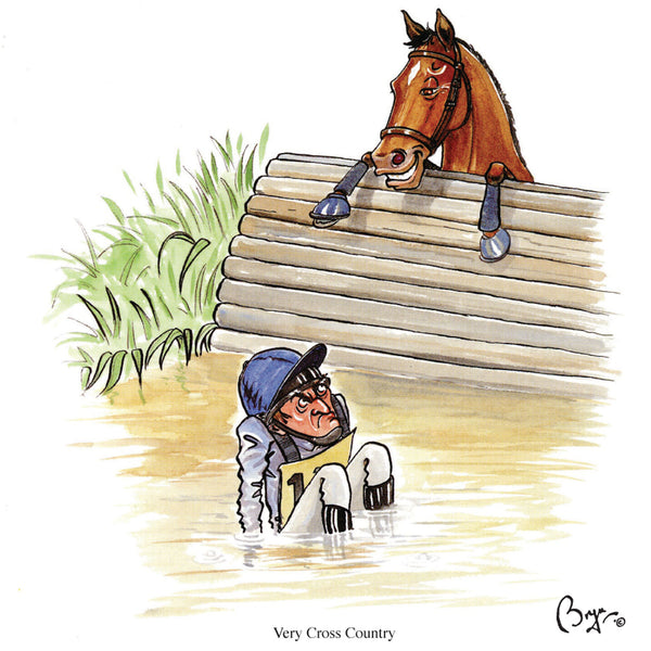 Very Cross Country horse riding greeting card with sound by Bryn Parry