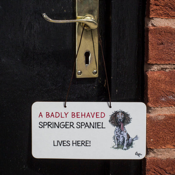Springer Spaniel Door Sign by Bryn Parry