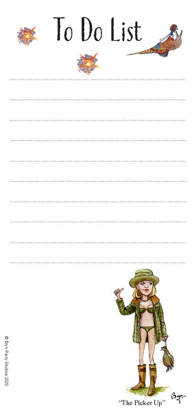 To Do List Notepad with Magnetic Strip. Shooting Types by Bryn Parry