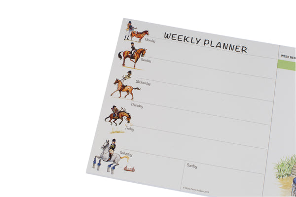 Horse and Pony Weekly Planner by Bryn Parry