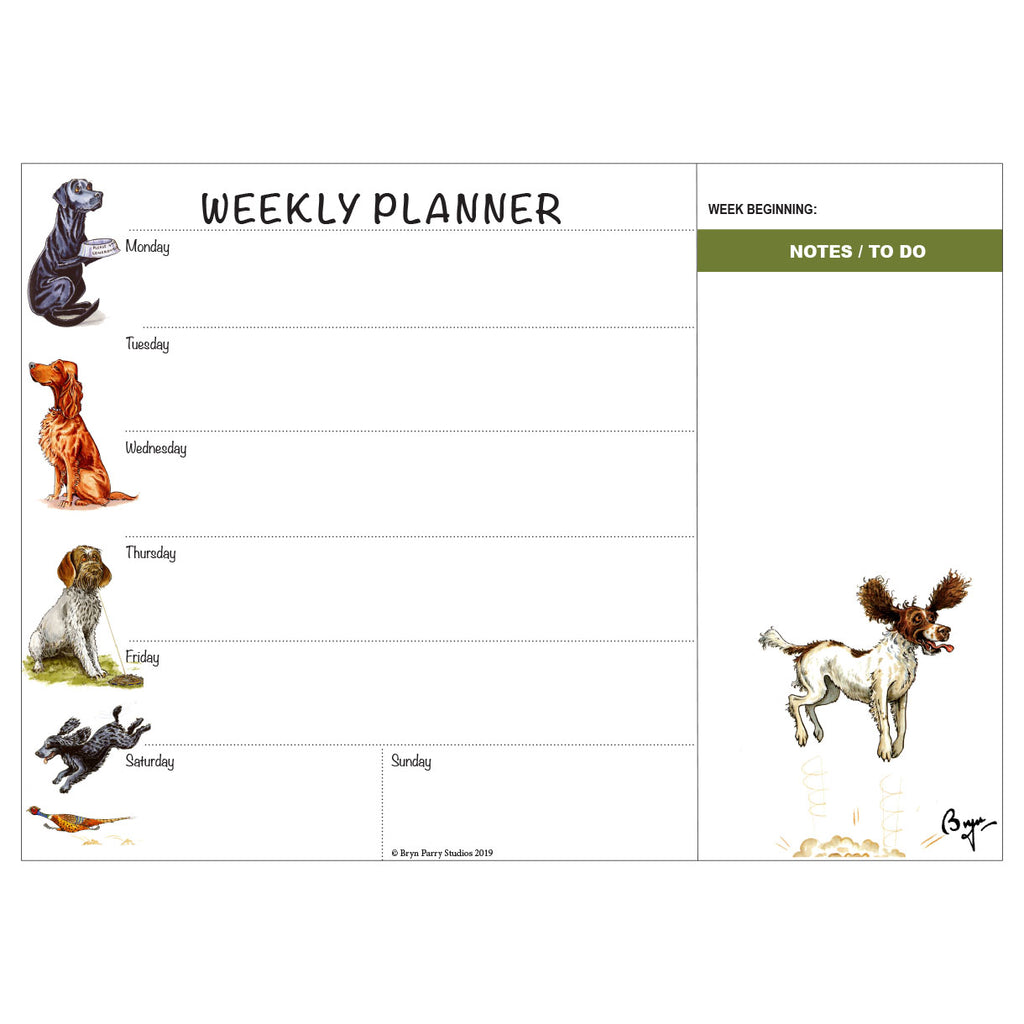 Working Dogs Weekly Planner by Bryn Parry