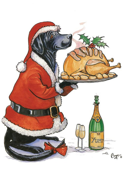 Perfect Presentation. Labrador Christmas Card by Bryn Parry