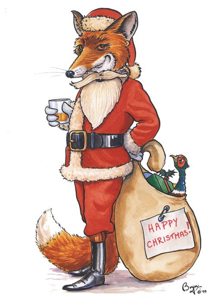 Undercover Fox Christmas Card by Bryn Parry