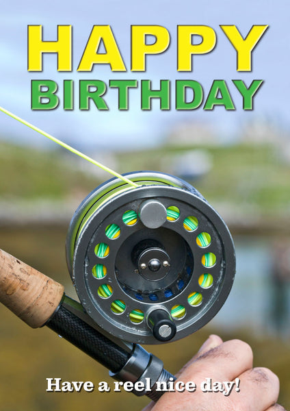 Fly Fishing Birthday Card by Charles Sainsbury-Plaice