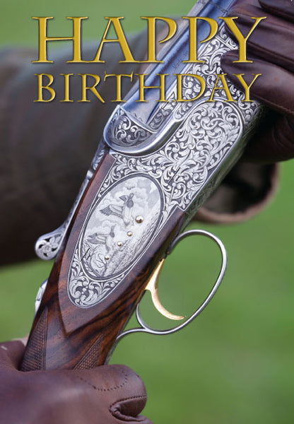 Shooting Birthday Card. Beretta by Charles Sainsbury-Plaice