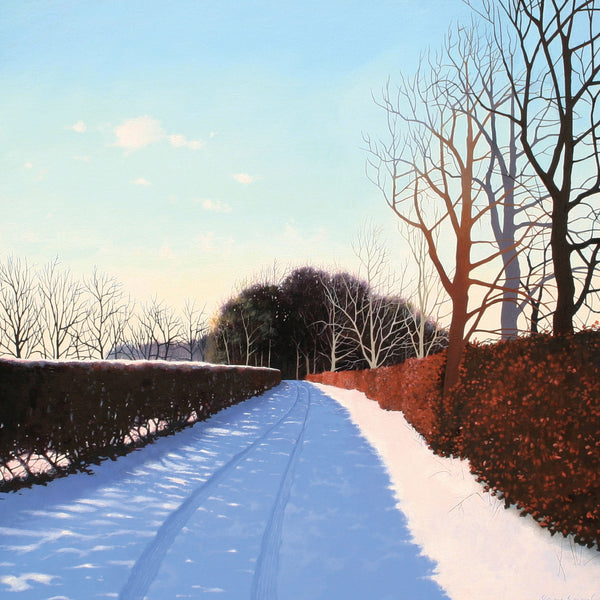 Winter landscape greeting card by Heather Blanchard.