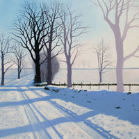 Landscape and countryside greeting card. Cold Winter Light