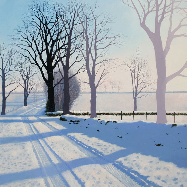 """Cold Winter Light"" art landscape greeting card by Heather Blanchard."