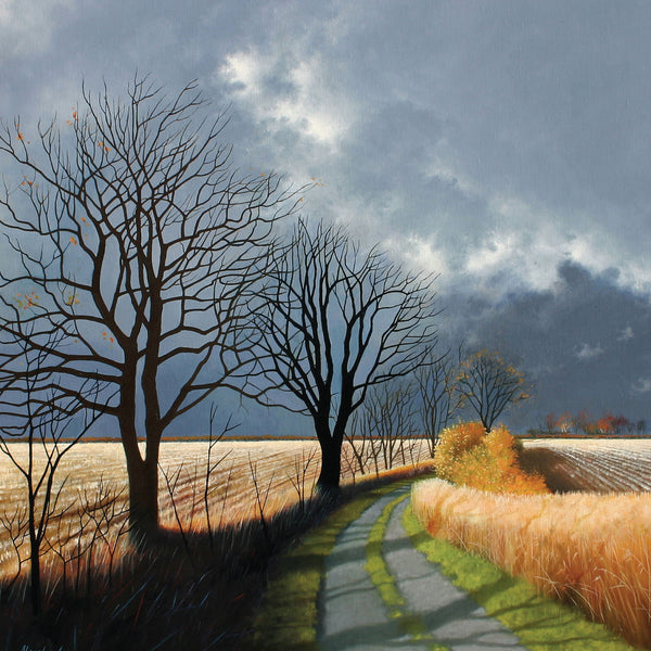 """Late Autumn"" art landscape greeting card by Heather Blanchard."