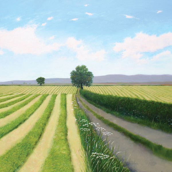 """Second Cut"" art landscape greeting card by Heather Blanchard."