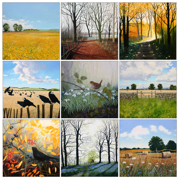 landscape greeting card multipack by Heather Blanchard