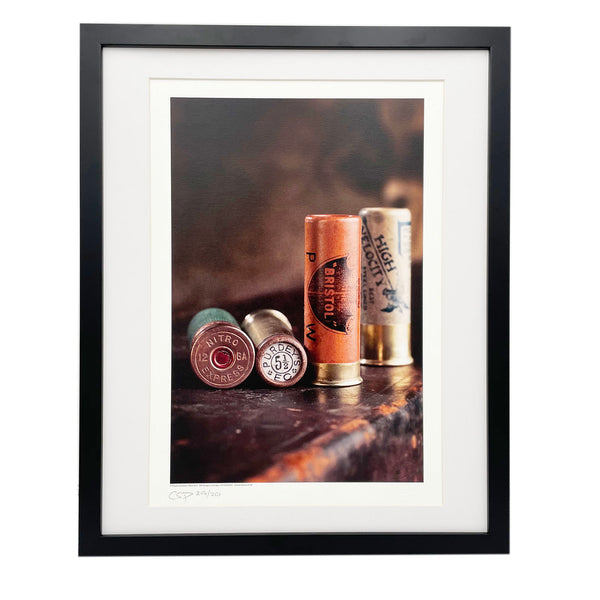 Vintage shotgun cartridges photograph by Charles Sainsbury-Plaice