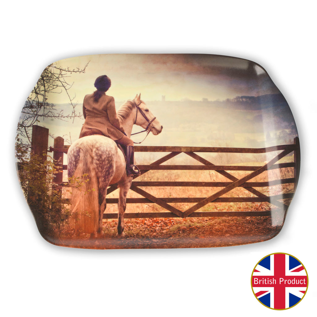 "Melamine Serving Tray. ""England on Horseback"" by Charles Sainsbury-Plaice"