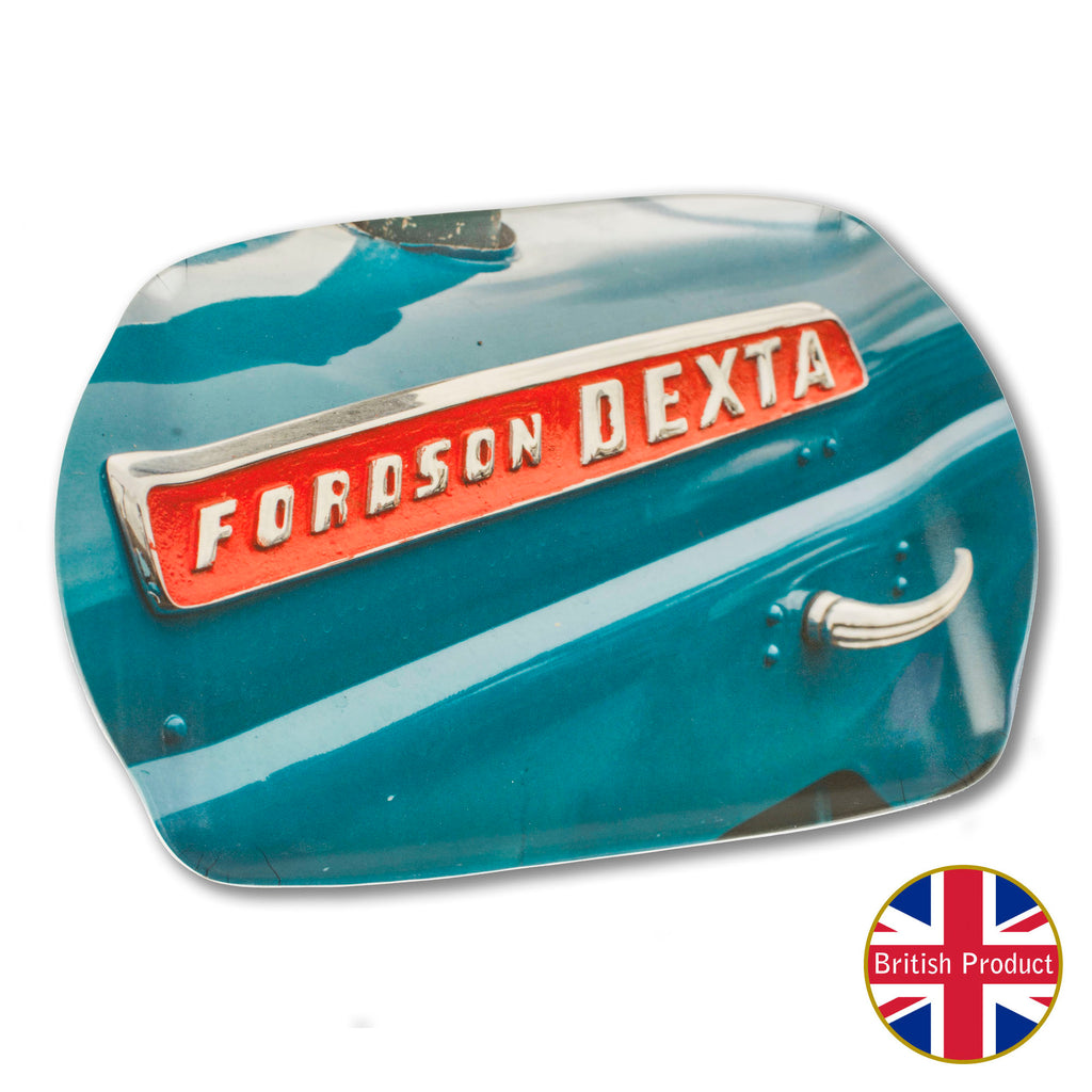 Fordson Dexta Tractor Badge Medium Melamine Serving Tray by Charles Sainsbury-Plaice