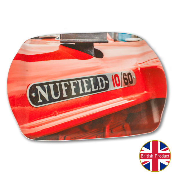 Nuffield Tractor Badge Medium Melamine Serving Tray by Charles Sainsbury-Plaice
