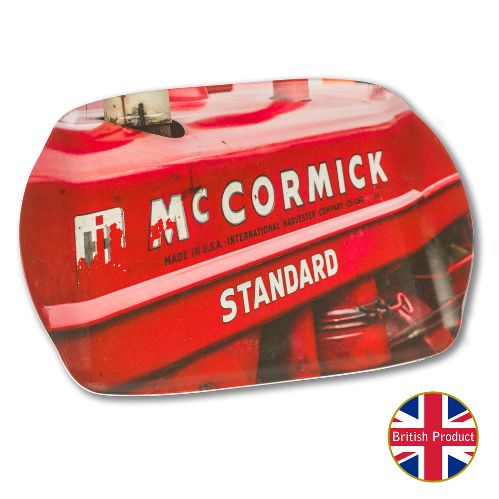 McCormick International Tractor Badge Medium Melamine Serving Tray by Charles Sainsbury-Plaice