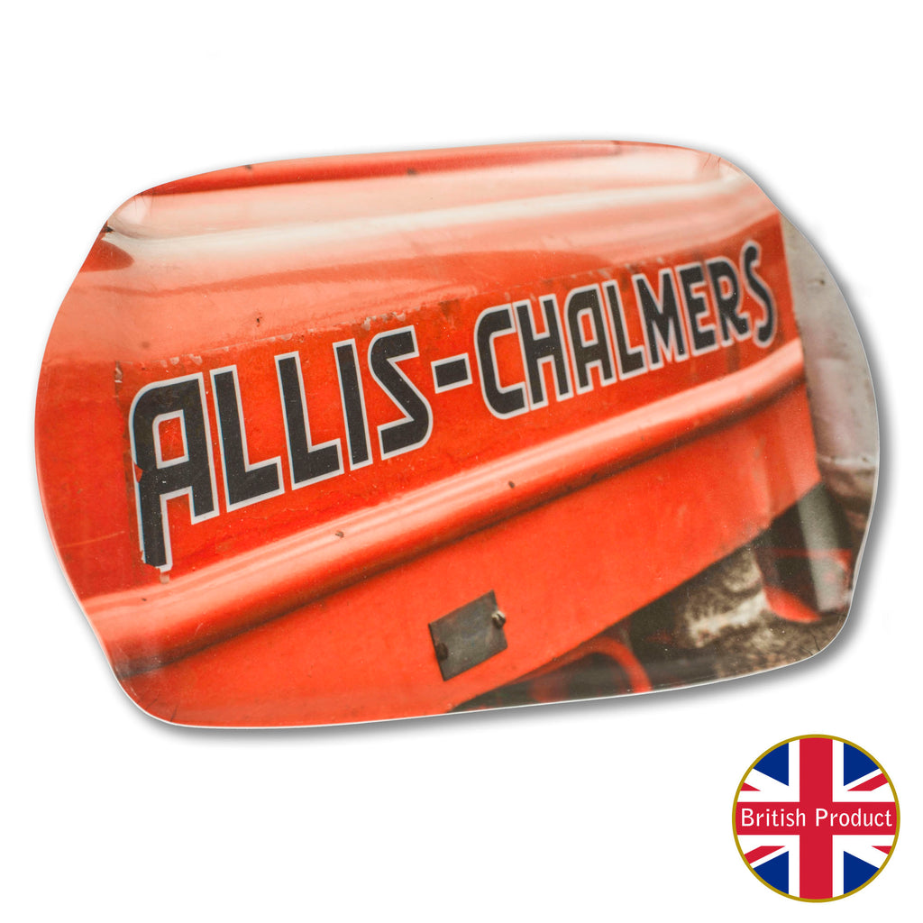 Allis-Chalmers Tractor Badge Medium Melamine Serving Tray by Charles Sainsbury-Plaice