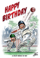 Cricket birthday card. A great innings so far by Courtney Thomas