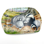 Badger wildlife and nature melamine serving tray by David Thelwell
