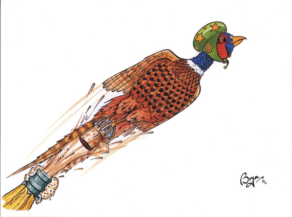 Shooting greeting card by Bryn Parry. Celebration Pheasant