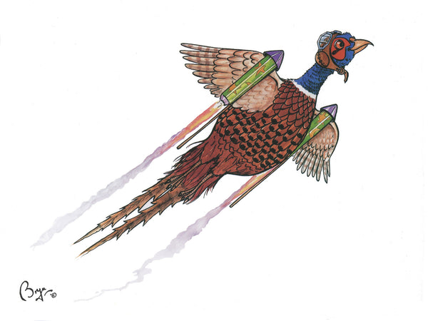 Shooting greeting card by Bryn Parry. The High Bird