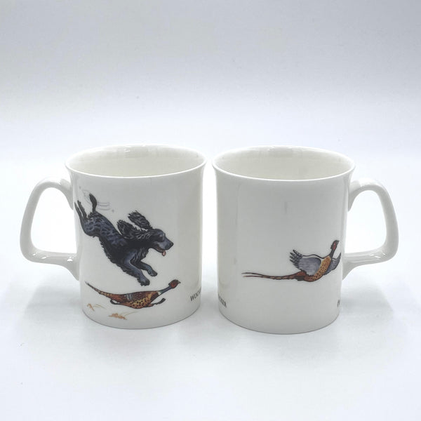 1 x Bone china cartoon Cocker Spaniel and shooting. Wocker Cocker by Bryn Parry