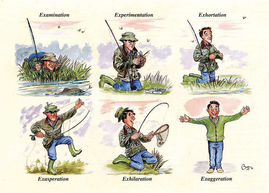 Fishing notecards by Bryn Parry. The Fishing Day