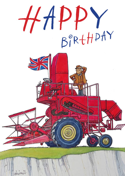 Farming and Brexit birthday card. Cliffs of Dover