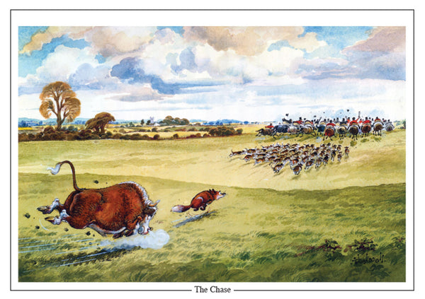 The Chase fox hunting cartoon Greeting Card by Thelwell