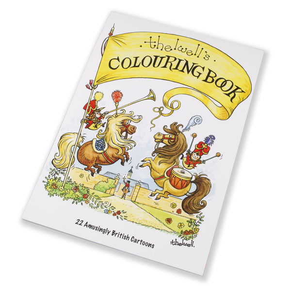 Thelwell's Colouring Book. 22 pages, A4 size, featuring ponies, horses and countryside scenes