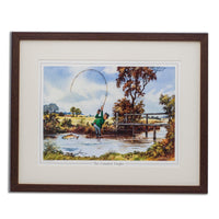 Cartoon Fishing Print. The Compleat Tangler by Thelwell