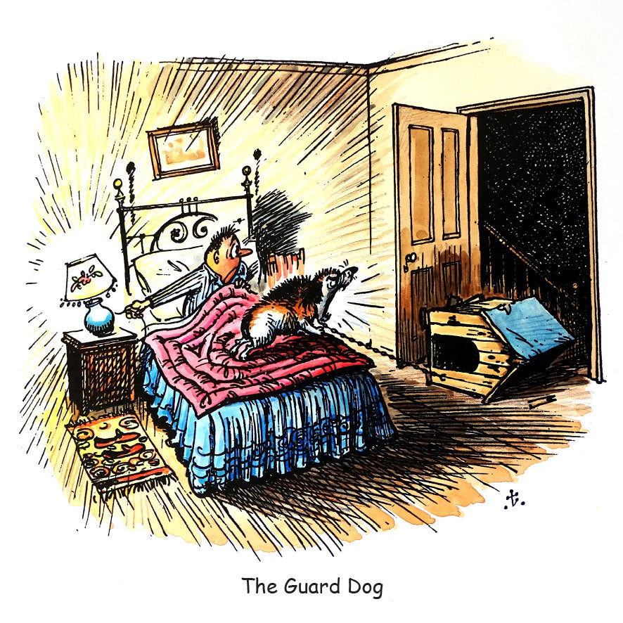 Dog Greeting Card. The Guard Dog by Norman Thelwell