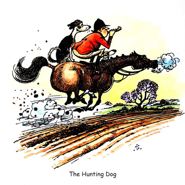 Horse and Hound Greeting Card. The Hunting Dog by Norman Thelwell