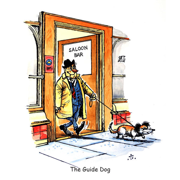Dog Greeting Card. The Guide Dog by Norman Thelwell
