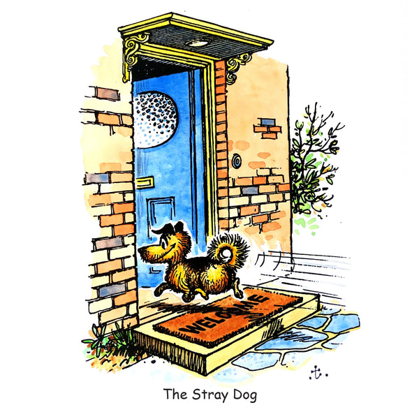 Dog Greeting Card. The Stray Dog by Norman Thelwell