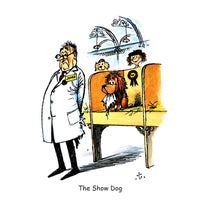 Dog Greeting Card. The Show Dog by Norman Thelwell