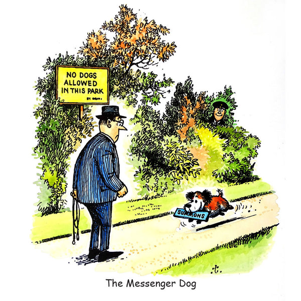 Dog Greeting Card. The Messenger Dog by Norman Thelwell