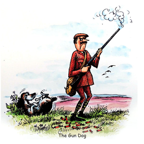 Dog and Shooting Greeting Card. The Gun Dog by Norman Thelwell