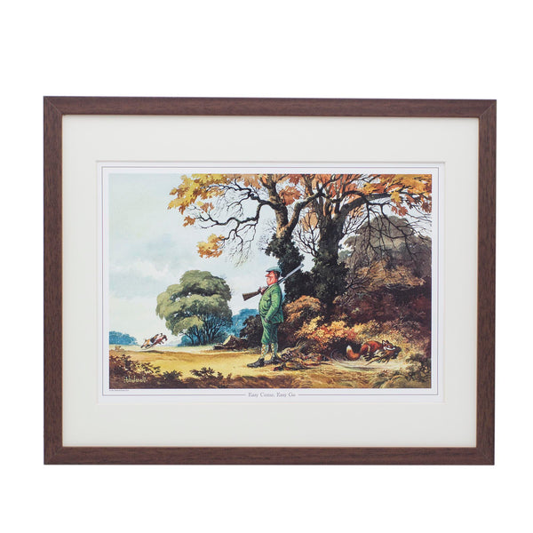 Cartoon shooting print. Easy Come, Easy Go by Norman Thelwell.