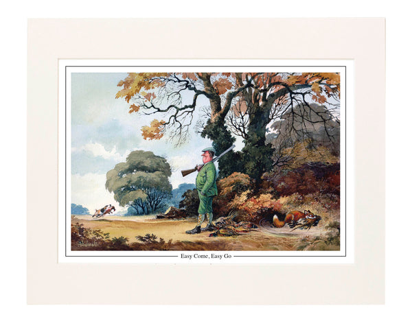 Easy Come, Easy Go by Norman Thelwell. Collector's print. Copied from origi...