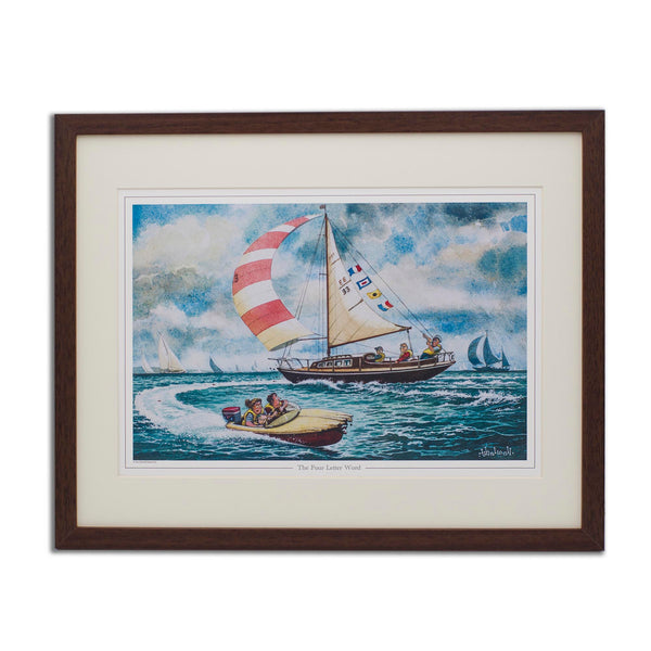 Fun sailing cartoon print. The Four Letter Word by Thelwell.
