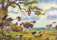 Horse or Pony Greeting Card. Full Flight by Norman Thelwell