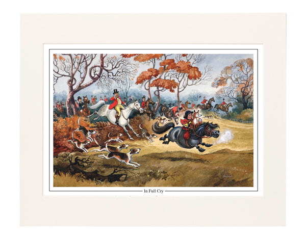 In Full Cry by Norman Thelwell. Collector's print. Copied from original pai...