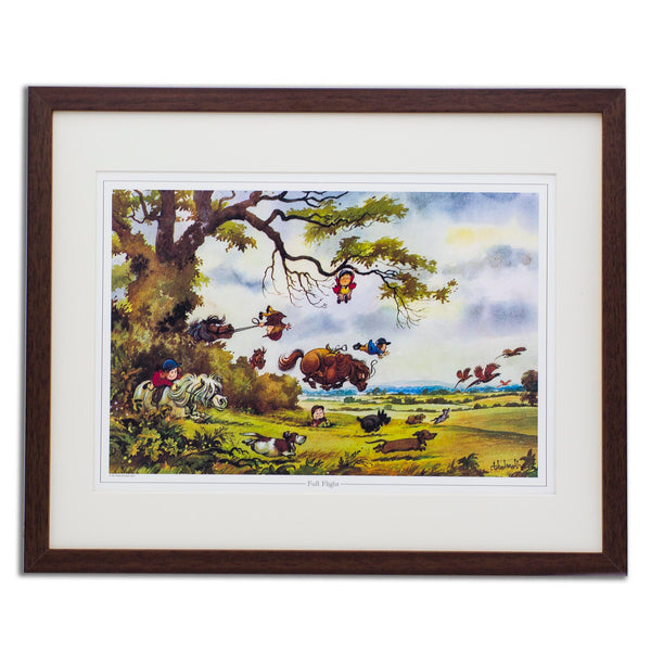 Cartoon Pony Print. Full Flight by Thelwell.