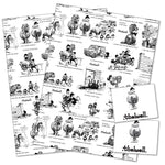 thelwell horse and pony wrapping paper