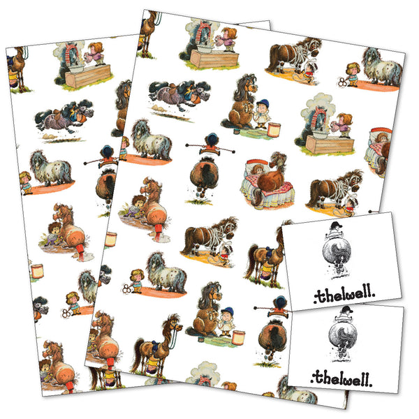 Thelwell pony wrapping paper for gifts