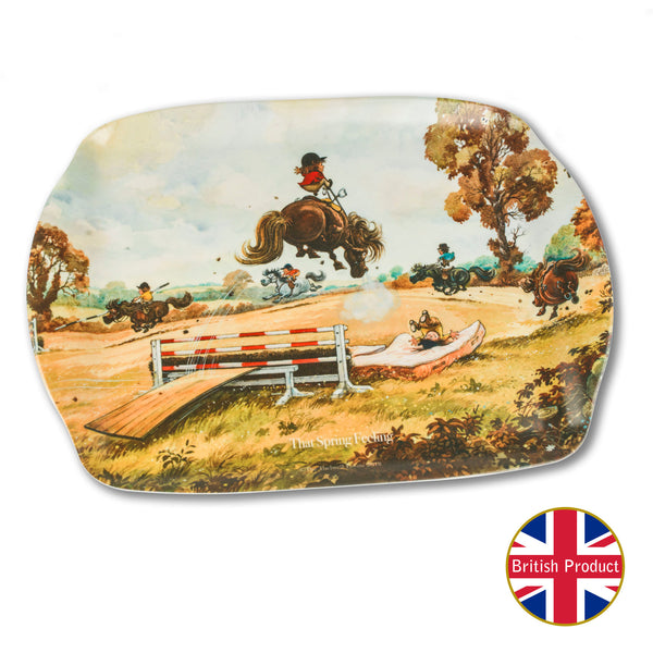 "Melamine Serving Tray. ""That Spring Feeling"" by Norman Thelwell"