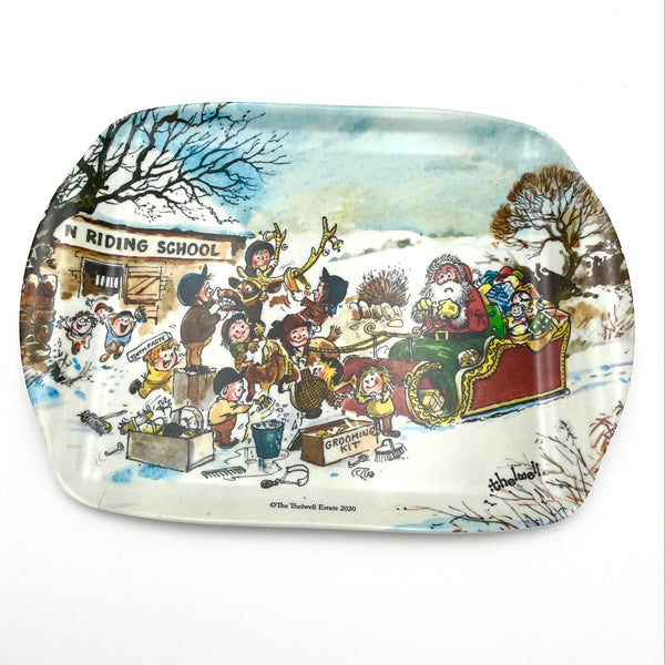 Thelwell Christmas Melamine Serving Tray - Reindeer Hand Wash